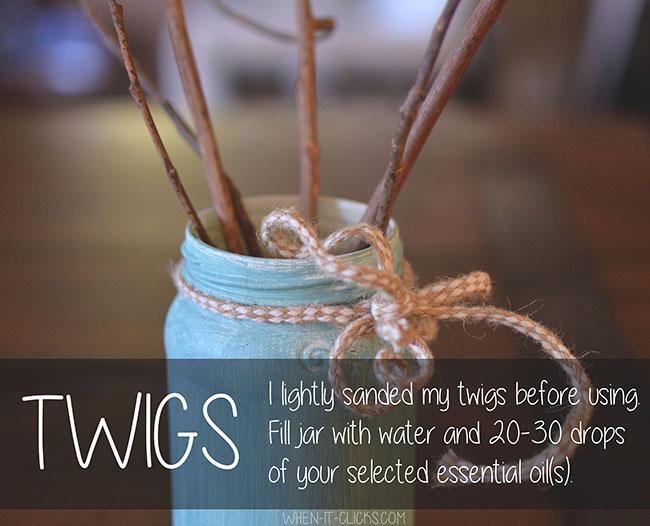 diy diffuser twigs