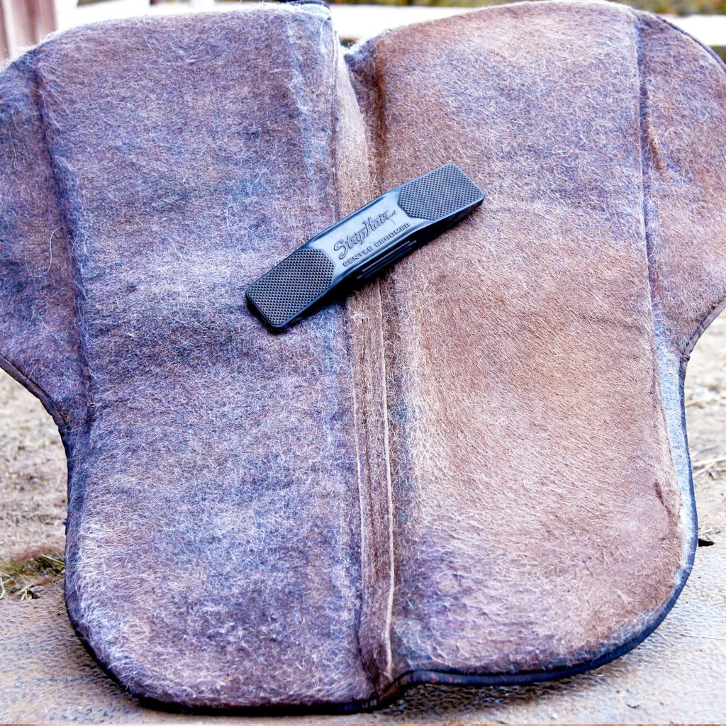 saddle pad cleaning before and after