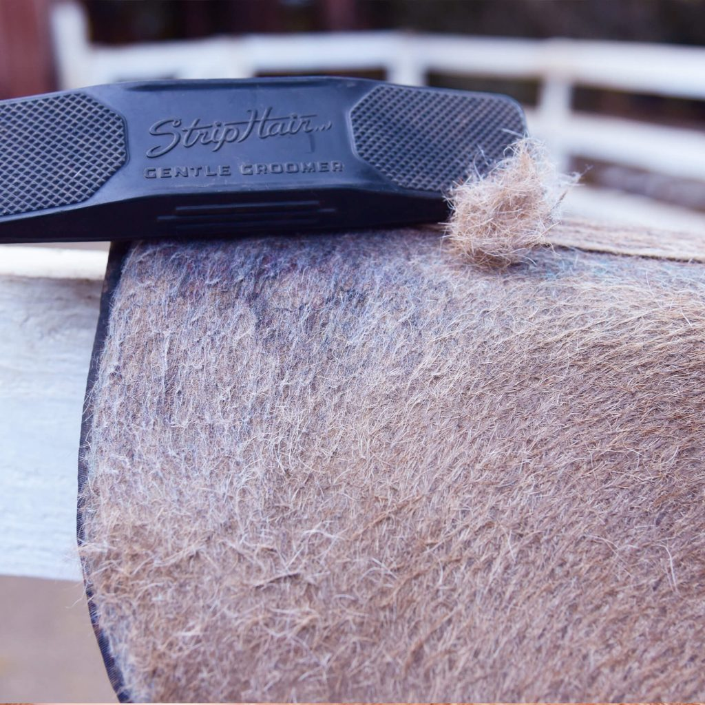 striphair for cleaning saddle pads